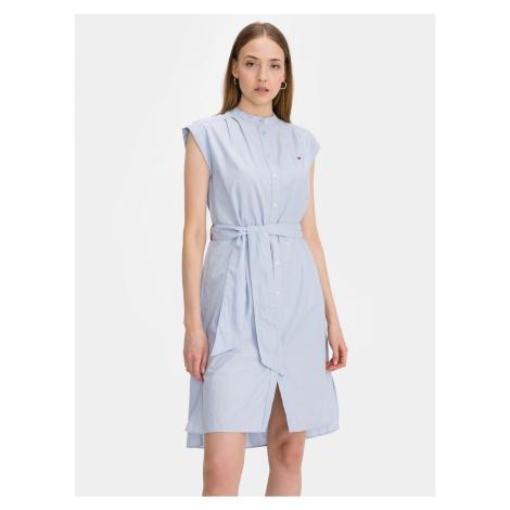 Oxford Šaty Tommy Hilfiger Modrá