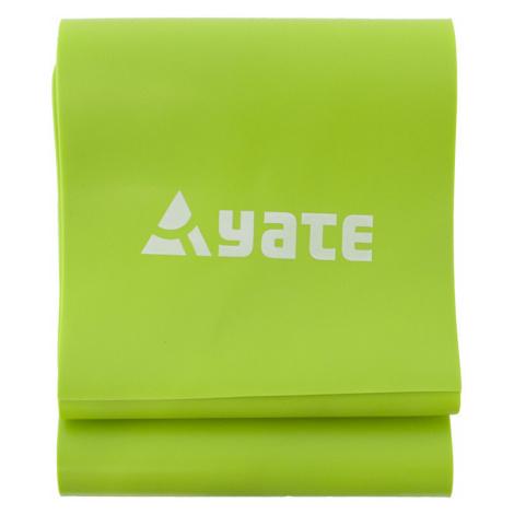 Cvičební pás YATE Fit Band 120 x 12 cm tuhý, zelená