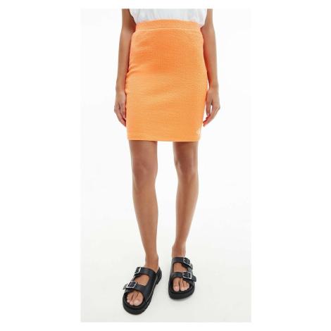 Calvin Klein dámská oranžová sukně