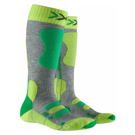 Ponožky X-Socks SKI JR 4.0 šedá|zelená