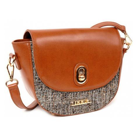 Hnědá lesklá kabelka – Glamour D . . A