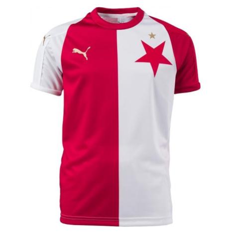 Puma SK SLAVIA REPLIC KIDS bílá - Dětský fotbalový dres