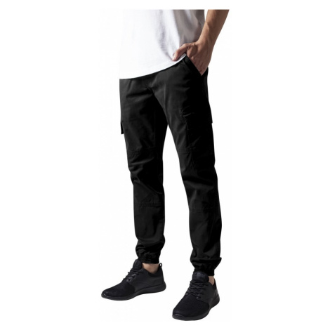 Kalhoty Urban Classics Washed Cargo Twill Jogging Pants - black