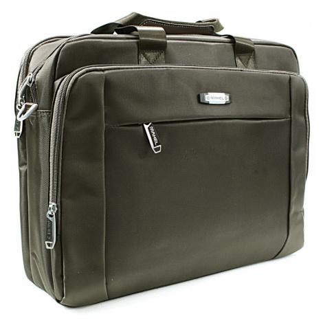 Kvalitní tmavě hnědá pánská taška na notebook Cursa Mahel