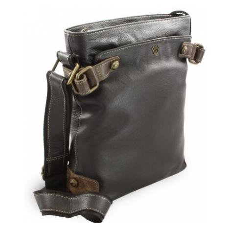 Černá kožená kabelka se zipem Mariel Arwel