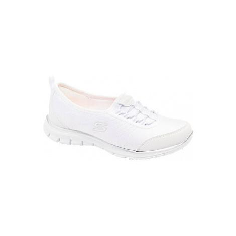 Bílé slip-on tenisky Skechers
