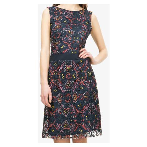 Dírkované šaty tmavěmodré barvy Desigual