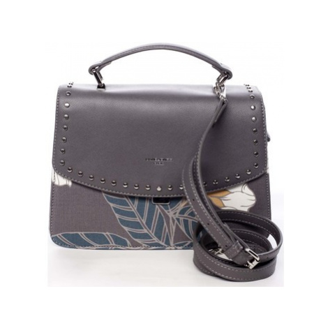 David Jones Dámská kabelka do ruky šedá - Floral