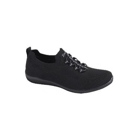 Černé slip-on tenisky Skechers