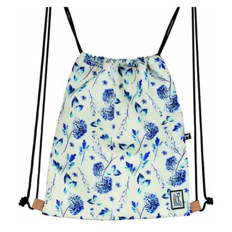 Bílý batoh s motivem květin – Gymsack The Pack Society