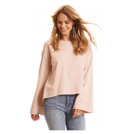 Mikina Odd Molly Back Swag Sweater - Růžová