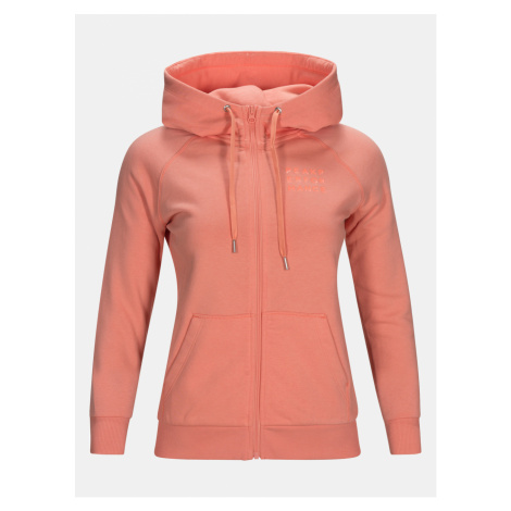 Mikina Peak Performance W Ground Zip Hood - Růžová