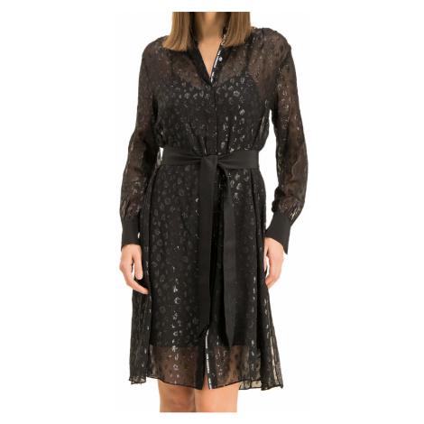 Hedvábné šaty - KARL LAGERFELD