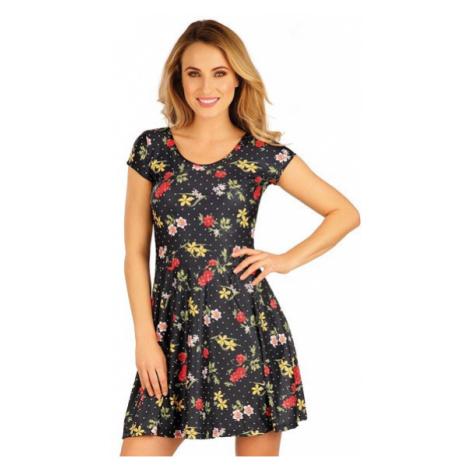 Dámské šaty s krátkým rukávem Litex 5A056 | tisk