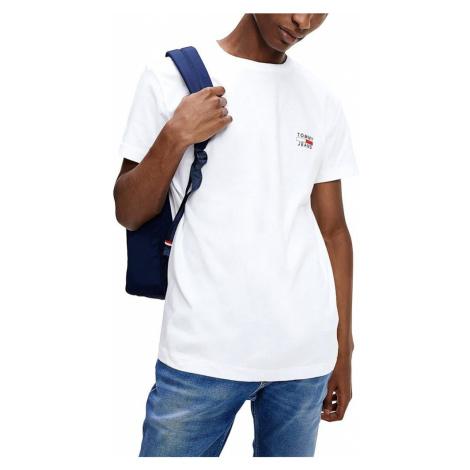 Tommy Hilfiger TOMMY JEANS pánské bílé tričko ORGANIC COTTON SLIM FIT T-SHIRT