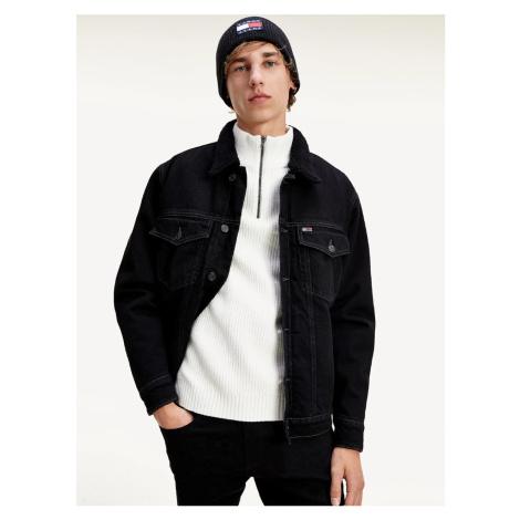Tommy Jeans pánská černá džínová bunda Tommy Hilfiger