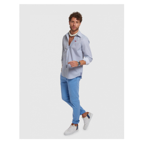 Kalhoty La Martina Man Chino Stretch Twill - Modrá