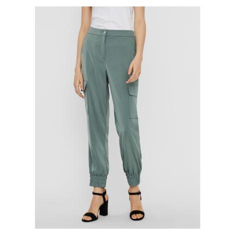 Zelené kalhoty VERO MODA Paula