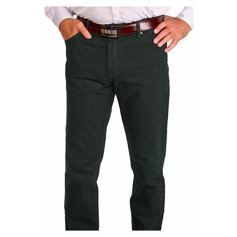 Zelené volnočasové kalhoty Alain Delon