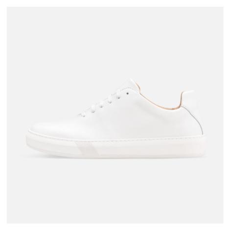 Vasky Teny White - Dámské kožené tenisky bílé, česká výroba