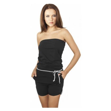 Urban Classics Ladies Hot Turnup Jumpsuit black