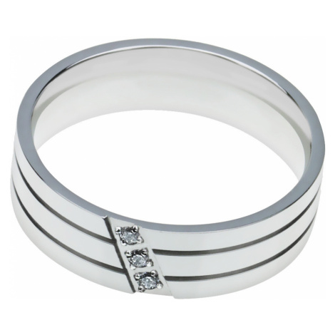 Linda's Jewelry Prsten Simple Lines chirurgická ocel IPR034 Velikost: 54