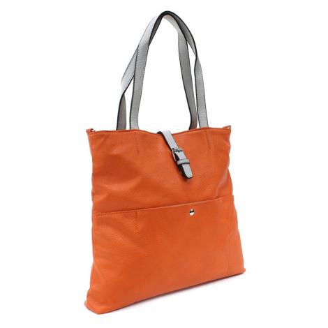 Oranžová elegantní velká dámská kabelka Moreen L a H - Miss Moda (PL)