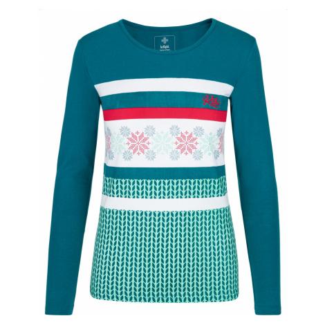 KILPI Dámské triko dlouhý rukáv JULS-W NL0101KITRQ Tyrkysová