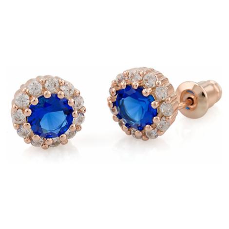Linda's Jewelry Náušnice bižuterie Classic blue IN018