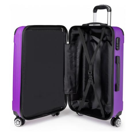 Fialový cestovní kvalitní prostorný střední kufr Amol Lulu Bags