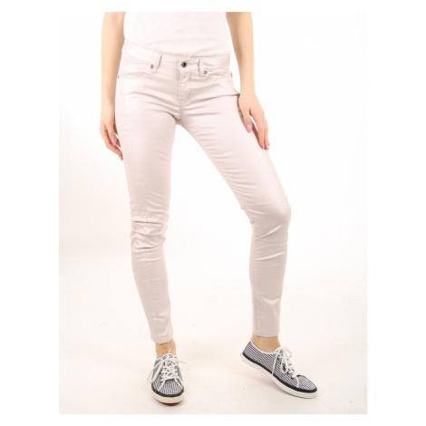 Pepe Jeans dámské světle růžové kalhoty Lola