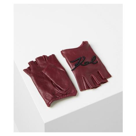 Rukavice Karl Lagerfeld K/Signature Glove - Červená