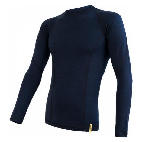 Pánské tričko SENSOR Merino DF dl. rukáv deep blu