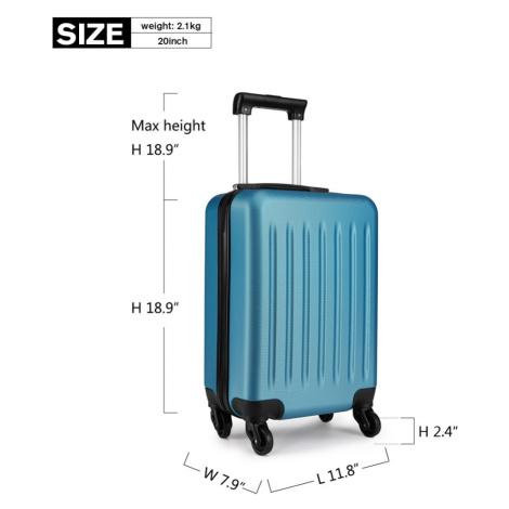 Modrý cestovní kvalitní prostorný malý kufr Bartie Lulu Bags