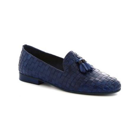 Leonardo Shoes K105 INTRECCIO Modrá