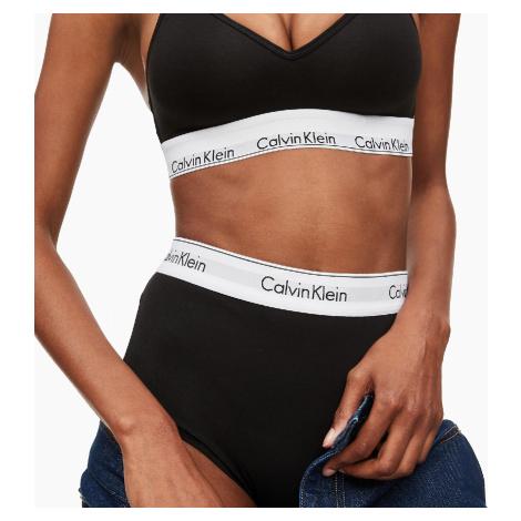 Sportovní podprsenka Calvin Klein modern cotton lift černá