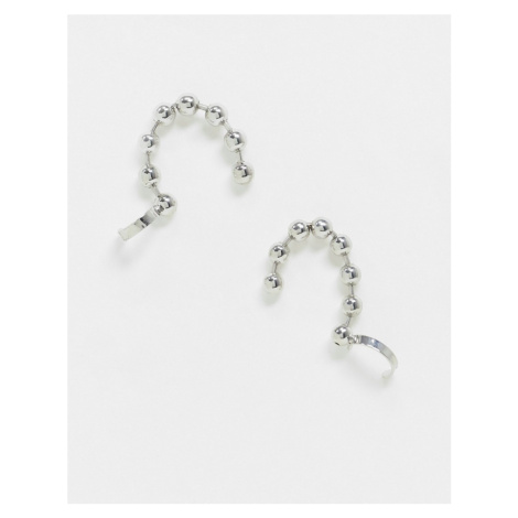 Uncommon Souls ear cuff in silver ball chain