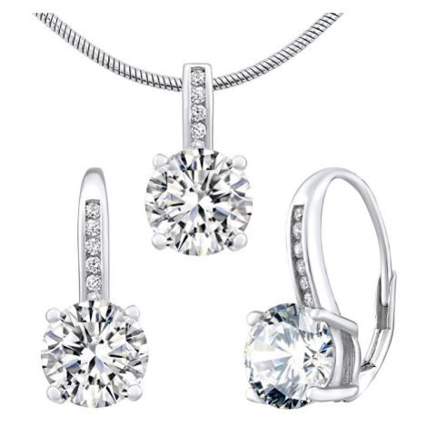 Silvego Stříbrný set šperků Verity LPS1335ES (náušnice, přívěsek)