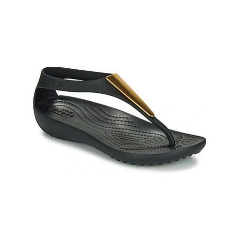 Crocs CROCS SERENA METALLIC BAR FP W Černá