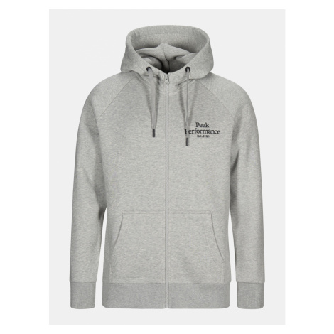 Mikina Peak Performance M Original Zip Hood - Šedá