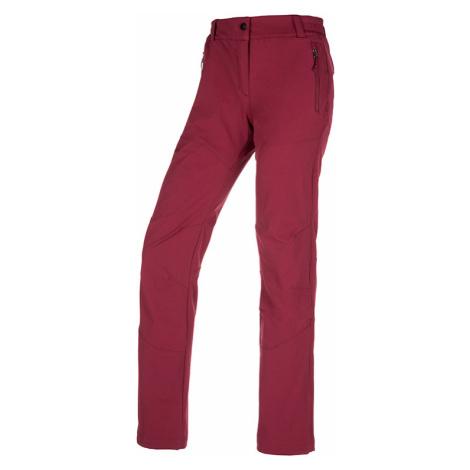 Dámské outdoorové kalhoty KILPI LAGO-W tmavě červená