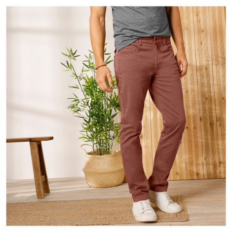 Blancheporte Twilové kalhoty rovného střihu karamelová