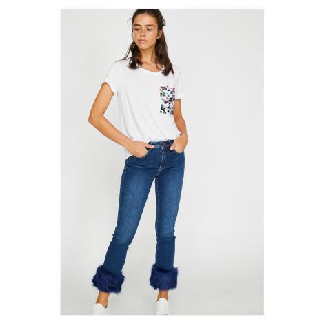 Koton Women's Blue Angelina Low Waist Jean
