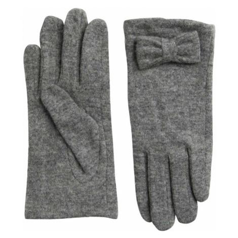 Světle šedé zimní rukavice Pieces a014f7f666