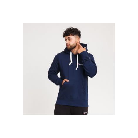 Champion Small Script Logo Hooded Sweatshirt navy