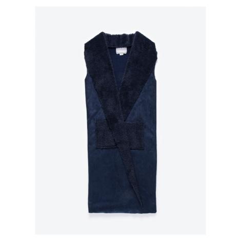 GATE Dlouhá kombinovaná vesta s plyšovou podšívkou