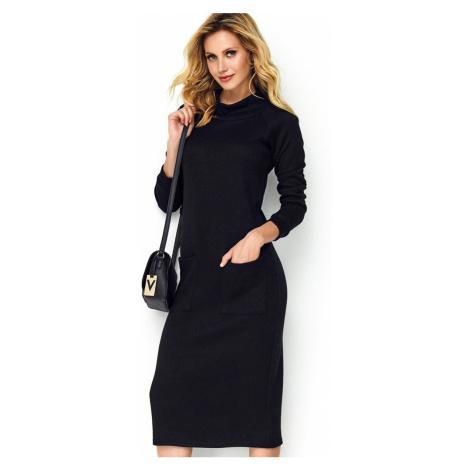 Černé šaty M505 Makadamia
