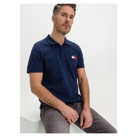 Badge Polo triko Tommy Jeans Modrá Tommy Hilfiger