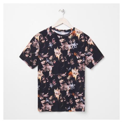 Sinsay - Květinové tričko - Černý