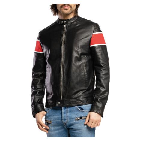 Černá kožená bunda - ICEBERG